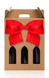 Κιβώτιο δώρων κρασιού Στοκ φωτογραφίες με δικαίωμα ελεύθερης χρήσης