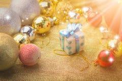 Κιβώτιο gifr για τη γιορτή Χριστουγέννων Στοκ Φωτογραφίες