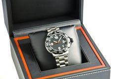 κιβώτιο wristwatch Στοκ Φωτογραφίες