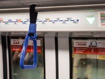 Κιγκλίδωμα στο ηλεκτρικό τραίνο Στοκ Εικόνες