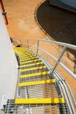 Κιγκλίδωμα σκαλοπατιών της δεξαμενής αποθήκευσης μαζούτ Στοκ φωτογραφία με δικαίωμα ελεύθερης χρήσης