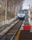 ΚΙΕΒΟ, Ουκρανία: Ο κατώτατος σταθμός funicular του Κίεβου Στοκ εικόνα με δικαίωμα ελεύθερης χρήσης