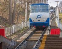 ΚΙΕΒΟ, Ουκρανία: Ο κατώτατος σταθμός funicular του Κίεβου Στοκ Φωτογραφία
