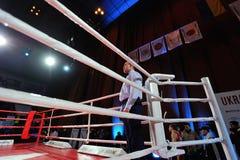 ΚΙΕΒΟ, ΟΥΚΡΑΝΙΑΣ - 16 ΔΕΚΕΜΒΡΙΟΥ, 2015: Ουκρανικοί αγώνες ΙΙΙ αγώνα - σε εθνικό επίπεδο παιχνίδια αγώνα Στοκ Φωτογραφίες