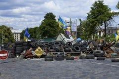 ΚΙΕΒΟ, ΟΥΚΡΑΝΙΑ - 13 Ιουνίου 2014: Κίεβο Maidan μετά από την επανάσταση Στοκ Εικόνες