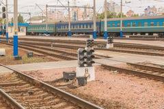 ΚΙΕΒΟ, ΟΥΚΡΑΝΙΑ - 16 ΜΑΐΟΥ 2016: Διαδρομές σιδηροδρόμων sta σιδηροδρόμων Στοκ Εικόνες