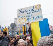 ΚΙΕΒΟ, ΟΥΚΡΑΝΙΑ - 24 ΝΟΕΜΒΡΊΟΥ: EuroMaidan Στοκ εικόνα με δικαίωμα ελεύθερης χρήσης