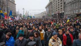 ΚΙΕΒΟ, ΟΥΚΡΑΝΙΑ - 24 ΝΟΕΜΒΡΊΟΥ: EuroMaidan Στοκ εικόνες με δικαίωμα ελεύθερης χρήσης