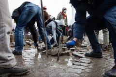 ΚΙΕΒΟ, ΟΥΚΡΑΝΙΑ - 19 Φεβρουαρίου 2014: Μαζικές αντικυβερνητικές διαμαρτυρίες Στοκ Εικόνες