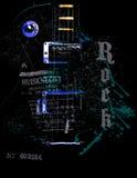 κιθάρα αναδρομική Στοκ Εικόνες