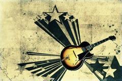 κιθάρα αναδρομική Στοκ φωτογραφία με δικαίωμα ελεύθερης χρήσης
