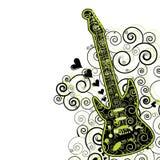 κιθάρα ιπτάμενων ανασκόπησ&e Στοκ φωτογραφία με δικαίωμα ελεύθερης χρήσης