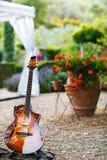 Κιθάρα και προαύλιο μιας ιταλικής βίλας r στοκ εικόνα με δικαίωμα ελεύθερης χρήσης