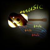 Κιθάρα μουσικής Στοκ εικόνες με δικαίωμα ελεύθερης χρήσης
