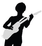 Κιθάρα παιχνιδιού ατόμων - διάνυσμα Στοκ Εικόνα
