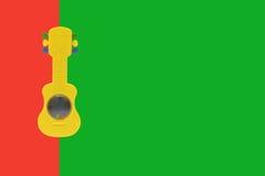 Κιθάρα παιχνιδιών στοκ φωτογραφίες με δικαίωμα ελεύθερης χρήσης