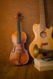 Κιθάρα, σάλπιγγα, βιολί Στοκ εικόνα με δικαίωμα ελεύθερης χρήσης