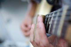 Κιθάρα φωτογραφικών διαφανειών Στοκ Εικόνα