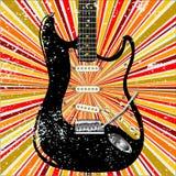 Κιθάρα Grunge υποβάθρου της Jazz Στοκ Φωτογραφίες