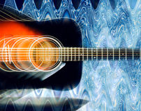 Κιθάρα Psichedelic Στοκ εικόνα με δικαίωμα ελεύθερης χρήσης