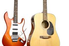 κιθάρες δύο Στοκ Εικόνες