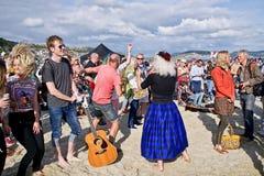 Κιθάρες στην παραλία - Lyme REGIS στοκ εικόνες με δικαίωμα ελεύθερης χρήσης
