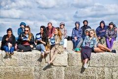 Κιθάρες στην παραλία - Lyme REGIS στοκ φωτογραφία
