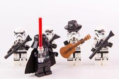 Κιθαρίστας πολέμων των άστρων Lego Στοκ Εικόνα
