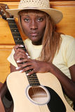 κιθαρίστας προκλητικός Στοκ φωτογραφία με δικαίωμα ελεύθερης χρήσης