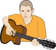 κιθαρίστας διανυσματική απεικόνιση