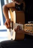 κιθαρίστας στοκ εικόνα