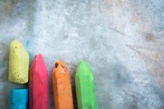 Κιμωλία πεζοδρομίων στη συγκεκριμένη σύσταση Στοκ Εικόνες
