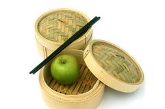 κινέζικα που τρώνε το υγιές ύφος Στοκ Φωτογραφίες