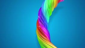 Κινήσεις ροής χρωμάτων σε έναν κύκλο Αφηρημένο ζωηρόχρωμο δημιουργικό υπόβαθρο με το ρεύμα των μικτών ελαιοχρωμάτων που διαμορφών απόθεμα βίντεο