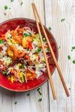 Κινεζικά λαχανικά και ρύζι μιγμάτων Στοκ Εικόνες