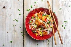 Κινεζικά λαχανικά και ρύζι μιγμάτων Στοκ Φωτογραφίες