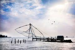 Κινεζικά δίχτια του ψαρέματος Στοκ φωτογραφία με δικαίωμα ελεύθερης χρήσης