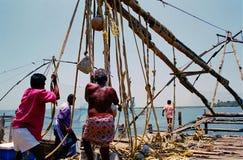 κινεζικά δίχτια του ψαρέμ&alph Στοκ εικόνες με δικαίωμα ελεύθερης χρήσης