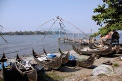 κινεζικά δίχτυα kochi αλιεία&sig Στοκ εικόνα με δικαίωμα ελεύθερης χρήσης