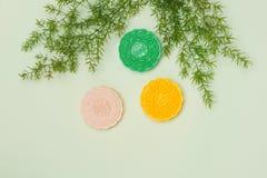 Κινεζικά διάσημα τρόφιμα Mooncakes Κινεζικές ζύμες παραδοσιακά ε Στοκ Εικόνες
