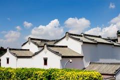 Κινεζικά εθνικά χαρακτηριστικά των ιδιωματικών κτηρίων κατοικιών Στοκ Φωτογραφίες