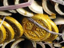 κινεζικά κεραμίδια στεγώ Στοκ Εικόνες