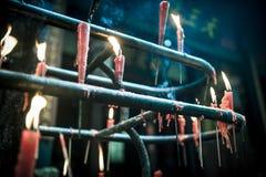 Κινεζικά κεριά στο ναό, Sichuan, Κίνα Στοκ φωτογραφίες με δικαίωμα ελεύθερης χρήσης