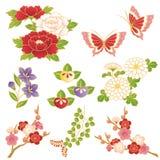 Κινεζικά λουλούδια διανυσματική απεικόνιση