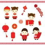 Κινεζικά νέα κινούμενα σχέδια έτους Στοκ εικόνα με δικαίωμα ελεύθερης χρήσης