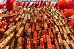 Κινεζικά νέα πυροτεχνήματα έτους στοκ φωτογραφία
