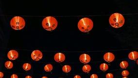 Κινεζικά νέα φανάρια έτους στην πόλη της Κίνας απόθεμα βίντεο