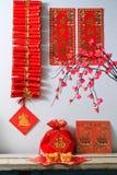 Κινεζικά νέα firecrackers έτους Στοκ Εικόνα