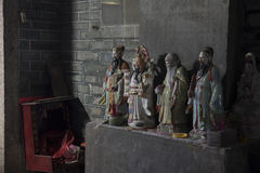 Κινεζικά πίσω θρησκευτικά κράτη αλεών σε Shenzhen Κίνα Στοκ Φωτογραφίες