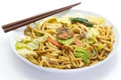 Κινεζικά τηγανισμένα νουντλς στοκ φωτογραφία